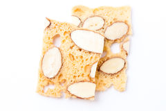 Almond biscotti cookies Stock Photo