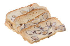 Almond Biscotti Isolated Stock Photography