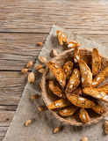 Almond Biscotti, top view Stock Images