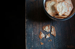 Almond biscuit Stock Photography