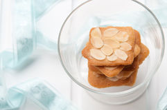 Almond biscuit Royalty Free Stock Photos