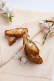 Almond biscuits Stock Photos