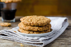 Almond biscuits Stock Images