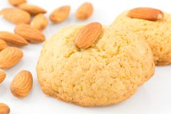 Almond biscuits Royalty Free Stock Photo