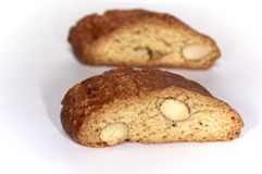 Almond biscuits Royalty Free Stock Images