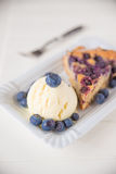 Almond Blueberry Cake Stock Image
