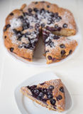 Almond Blueberry Cake Stock Images