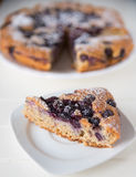 Almond Blueberry Cake Royalty Free Stock Photography