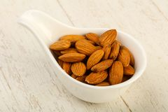 Almond in the bowl Stock Photography