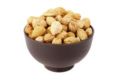 Almond in the bowl Royalty Free Stock Photo