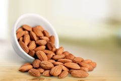 Almond bowl Stock Photography