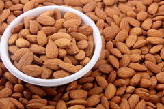Almond in bowl Royalty Free Stock Images