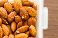 Almond in box Royalty Free Stock Images