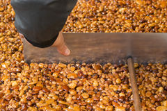 Almond brittle italian croccante sweet Stock Image