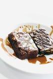 Almond Brownie Royalty Free Stock Photo