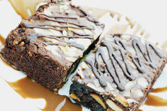 Almond Brownie Royalty Free Stock Photo
