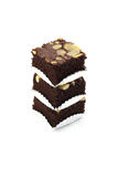 Almond Brownie Stock Photo