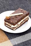Almond Brownie cake Royalty Free Stock Photo