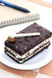 Almond Brownie cake Royalty Free Stock Photos