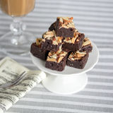 Almond brownies Stock Photos
