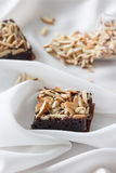Almond brownies Royalty Free Stock Image