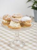 Almond buns Stock Photos