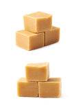 Almond butter toffee cube  Royalty Free Stock Photo