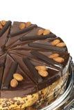 Almond cake with chocolate royalty free stock photo