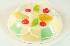 Almond cake with cream fondant. Dessert Sicilian Cassata stock image