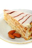 Almond cake Esterhazy. Royalty Free Stock Image