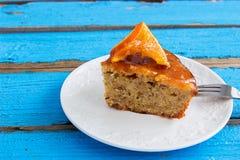 Almond cake orange. stock photo
