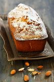 Almond cake with orange zest. Royalty Free Stock Photography