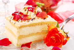 Almond cake in romantic style Stock Photography