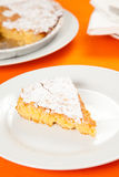 Almond cake from santiago of compostela Stock Photos
