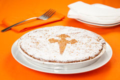 Almond cake from santiago of compostela Royalty Free Stock Photography