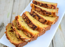 Almond Cake Stock Photo