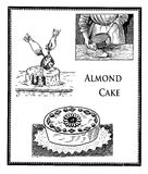 Almond cake, vintage engraving Royalty Free Stock Images
