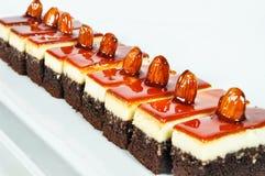 Almond and caramel cake Royalty Free Stock Photo