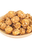 Almond and caramel popcorn Royalty Free Stock Photography