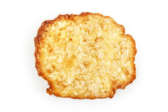Almond chip cookie  on white background Stock Images
