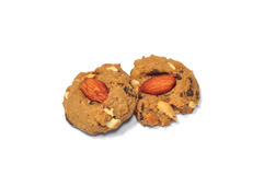 Almond choccolate chip cookies. The almond choccolate chip cookies Stock Image