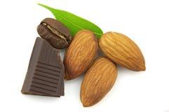 Almond with Chocolate Stock Photos
