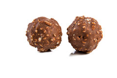 Almond chocolate ball isolated Stock Photos