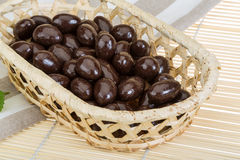Almond in chocolate Stock Photo