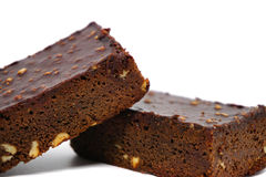 Almond chocolate brownie Royalty Free Stock Photography
