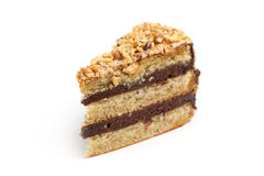 Almond Chocolate Cake Stock Photography