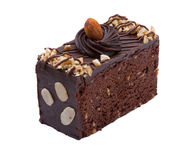 Almond chocolate cake Royalty Free Stock Photos