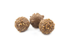 Almond chocolate candy isolated Royalty Free Stock Image
