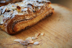Almond chocolate croissant Royalty Free Stock Images