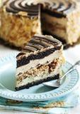 Almond Chocolate Crunch Cake Stock Photo